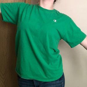 Green Champion tee shirt